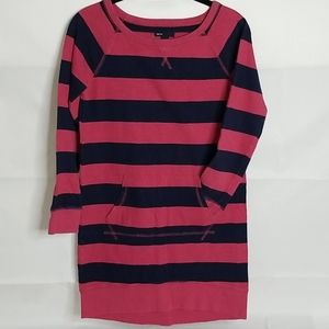 Gap Striped Double Stitched Ribbed Shirt Dress 12